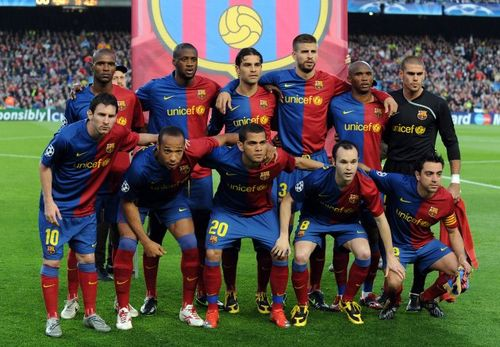 barcelona fc messi 2010. FC Barcelona 2010 Team