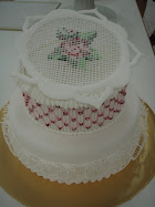 2 tier royal icing cake