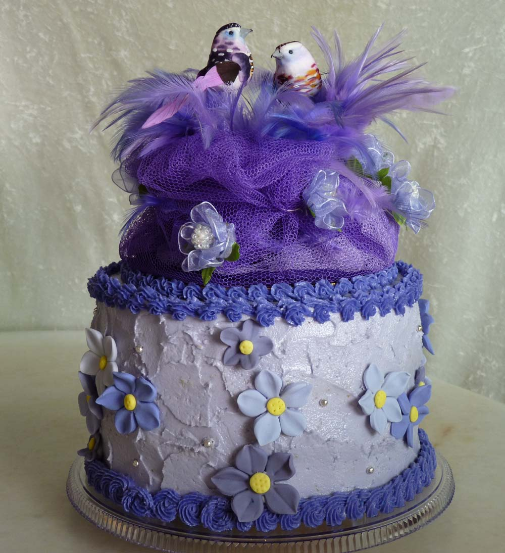 purple velvet wedding cake