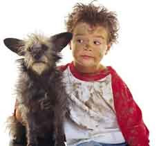 Niños y perros
