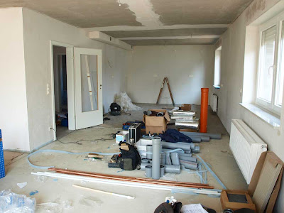 Bericht von der baustelle april 2009 for Wohnzimmer 3 meter breit