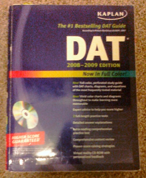 dat study guide Dat test study guide with practice questions the dat consists entirely of  multiple choice items there are four different batteries tested in the dat: the  survey.