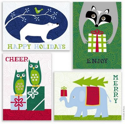 We've designed a series of 12 happy (holiday-themed) animal designs.