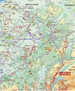 Randonnée en France: Carte générale du projet . traceglobal
