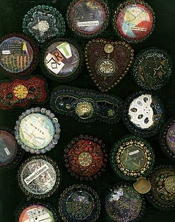Beaded Art Pins from 2010