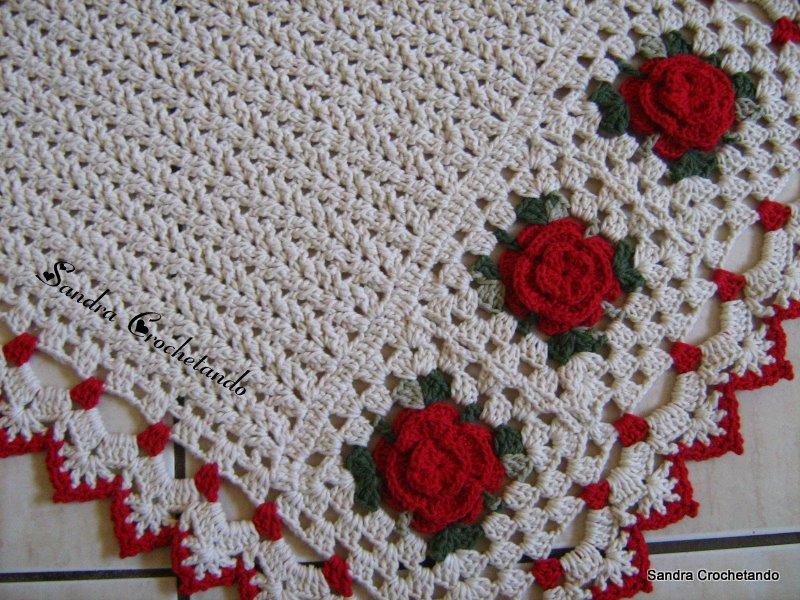 N  08 Na Cor Cru E Vermelho Para As Flores Usei Barbante N   06