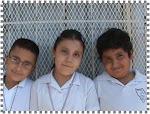 Jorge, Claudia y Ángel de 3º B