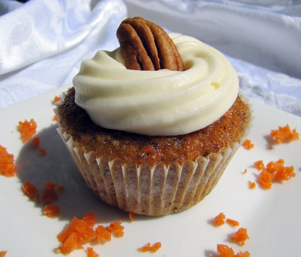 Carrot Cake Cupcakes Recipe   Dishmaps