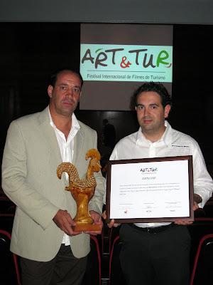 Entrega del premio ART&TUR 2009 a Trotapáramus en ART&TUR, Barcelos, Portugal