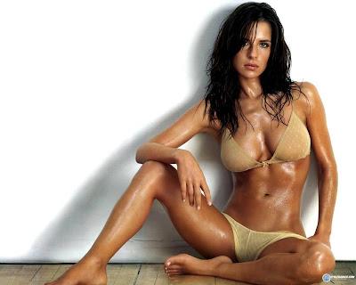 Denise Milani in Hot black bikini kelly monaco in sexy bikini wallpaper