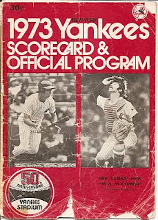 1973 Yankees Scorecard & Official Program