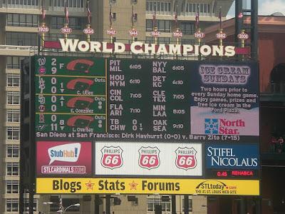 Busch scoreboard