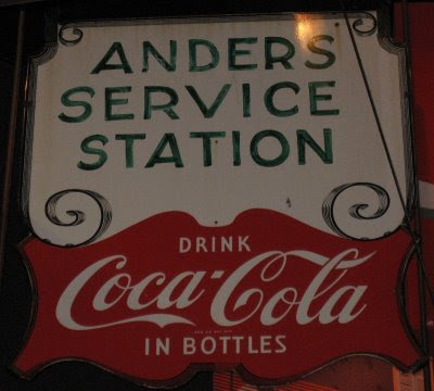 Anders' Service Station sign