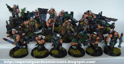 imperial guard hobby catachan command squad land sharks