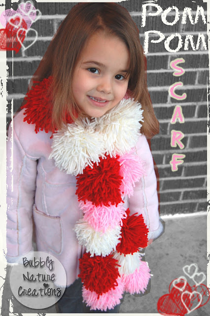 gift presents: pom pom scarf or garland