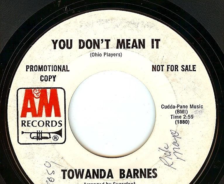 Towanda Barnes You Better Find Someone To Love