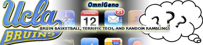 OmniGeno - Musings about UCLA sports, Apple, Mac, iPod, iPhone, and Life