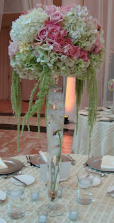 Cone-shaped vase centerpiece