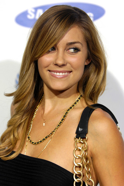 A single pinned-back braid adds interest to Lauren Conrad's simple hairstyle