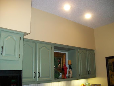 Before And After Unsightly Kitchen Soffits The Everyday Home