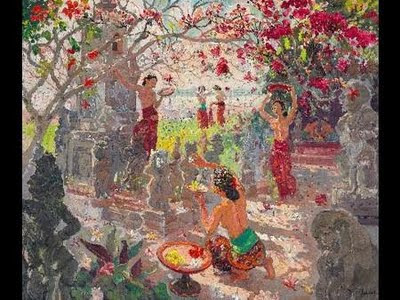 the Garden at Sanur by Jean Le Mayeur