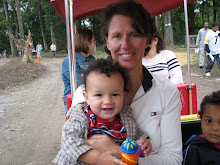 T and Mommy on a train ride