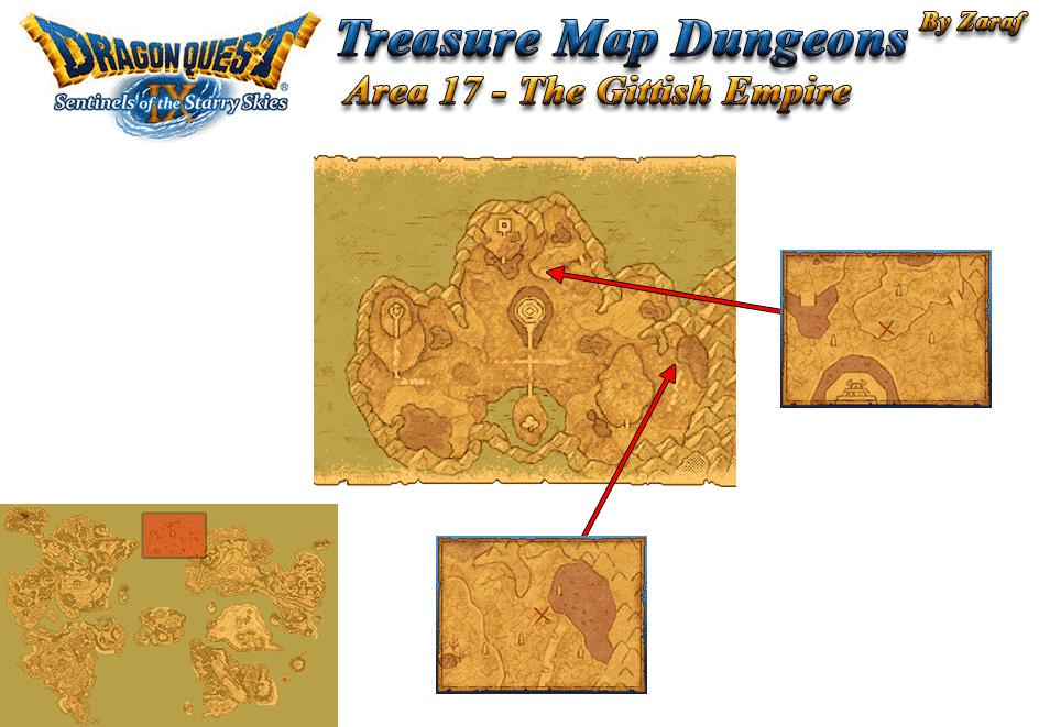 Dragon Quest 9 Grotto Maps: The Gittish Empire Grotto Maps
