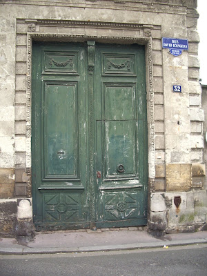 Exterior on pinterest paint colors green doors and for Green french doors