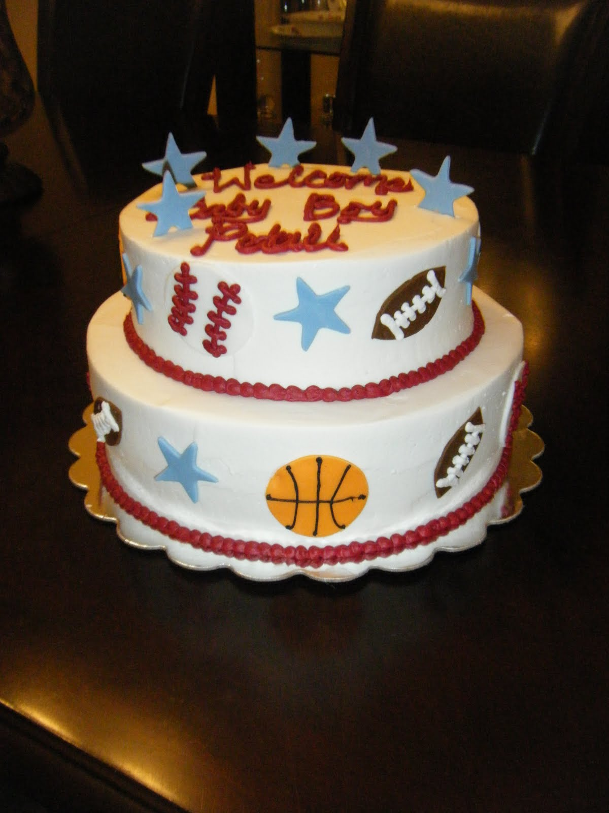 jessica 39 s cakealicious cakes sports themed baby shower 2