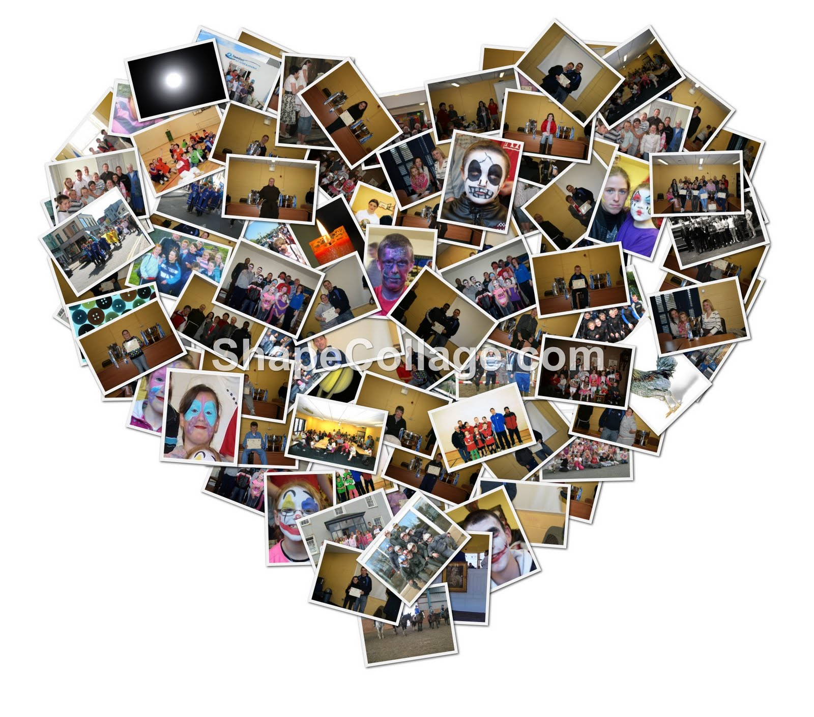 hearts photo collage template