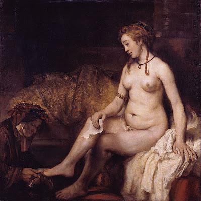 Rembrandt van Rijn - Bethsabée au bain tenant la lettre de David