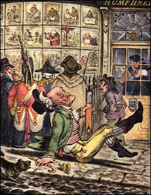 James Gillray - slippy weather