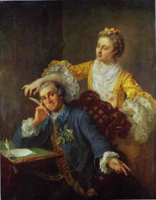 william hogarth - david garrick  with his wife eva maria veigel