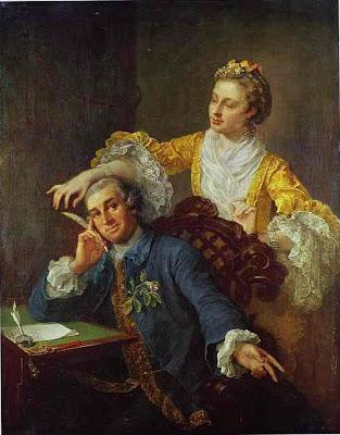 william hogarth - david garrick  with his wife eva maria veigel