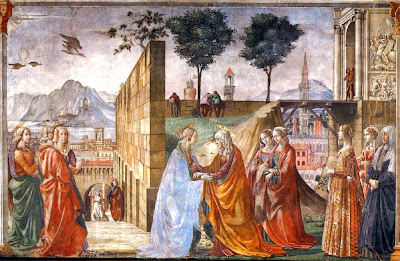 Domenico Ghirlandaio - visitation- fresque