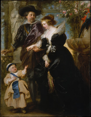 Peter Paul Rubens Rubens, His Wife Helena Fourment  and One of Their Children