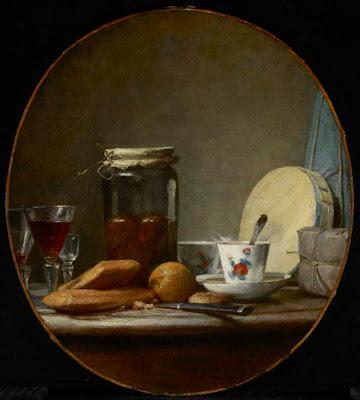 Jean-Siméon Chardin. Jar of Apricots