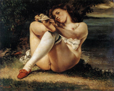 Gustave Courbet - Woman with White Stockings - c. 1861