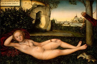 Lucas Cranach l'Ancien (1472-1553)  - The Nymph of the Spring