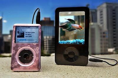 iPond speaker with fish tank