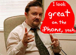 David Brent- News of BBC player on iPhone