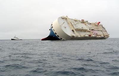 Seacowboys ship in a deep sea