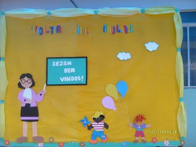 PAINEL VOLTA ÁS AULAS!!!!! para crianças