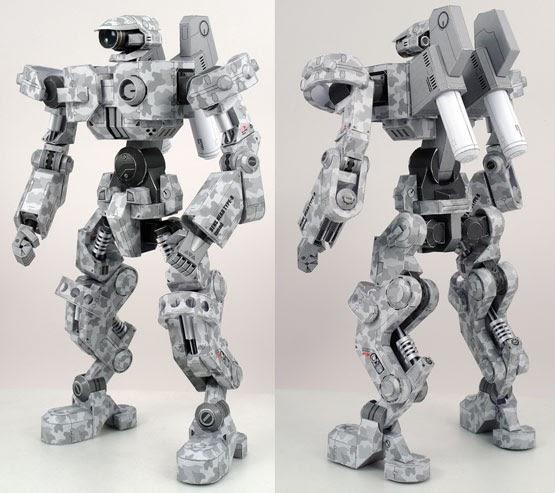 Robot papercraft lens head typeb free papercraft paper model papertoy - Robot blanc star wars ...