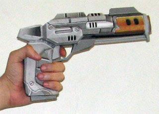 Entropia Universe Papercraft Pistol
