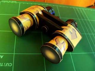 Camo Binocular Papercraft