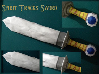 Spirit Tracks Recruit Sword Papercraft