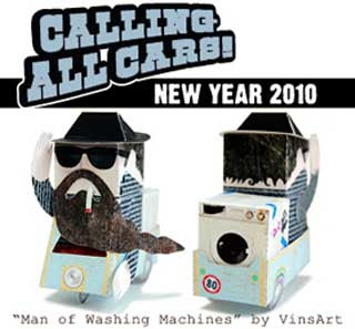 Calling All Cars Papertoy New Year