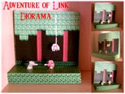 The Adventure of Link - Forest Diorama Papercraft