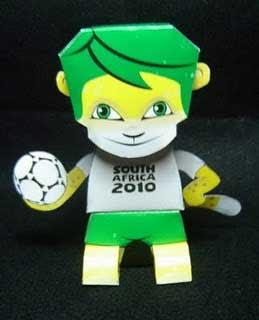 Zakumi Papercraft Mascot